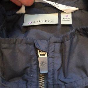 Athleta Jackets & Coats - Athleta lightweight blue nylon zip up jacket Sz M